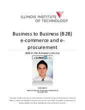 Business to Business eCommerce in t...