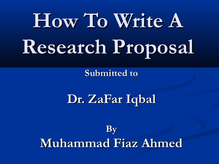 Expected findings research proposal