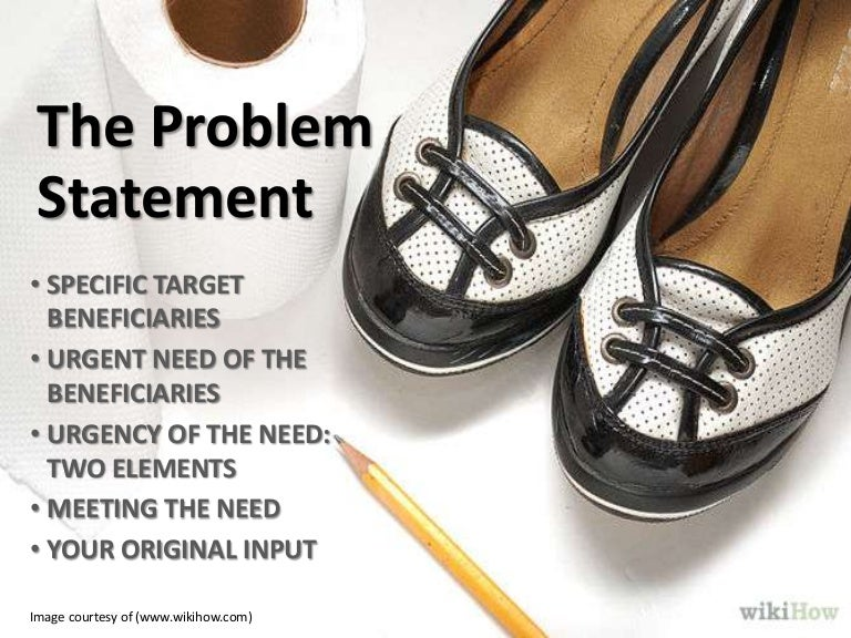 Problem statement in a research proposal
