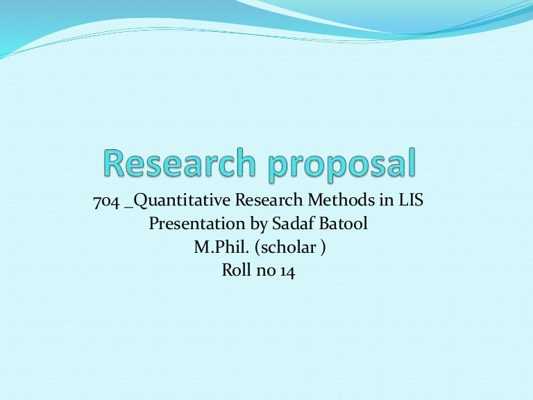 Research proposal scope