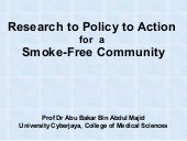 Research To Policy To Action For Sm...