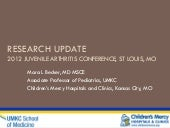 Research Update 2012