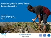 Urbanizing Deltas of the World: Research Uptake