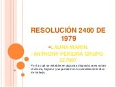 Resolución 2400 de 1979