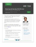 Webinar - Resolving the Big Data ROI Dilemma : Exploring the Unknown vs. Executing a Plan