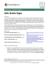ADA Braille Signage Resources