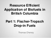 Fischer Tropsch Fuels from Biomass