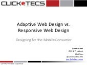 Responsive Web Design (RWD) vs Adap...