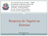 Resposta do vegetal ao estresse