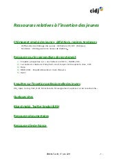 Ressources insertion professionnell...