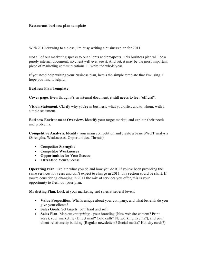 Business Plan Essay Business Plan For Restaurant Free Restaurant