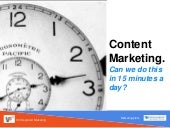 Content Marketing in 15 Minutes a Day for Restaurants