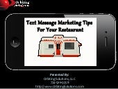Mobile Text Message Marketing For R...