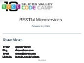 RESTful Microservices