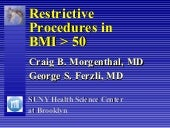 Restrictive Procedures in BMI > 50