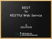 REST to RESTful Web Service