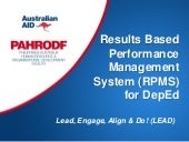 Results based performance management system  rpms- for dep ed