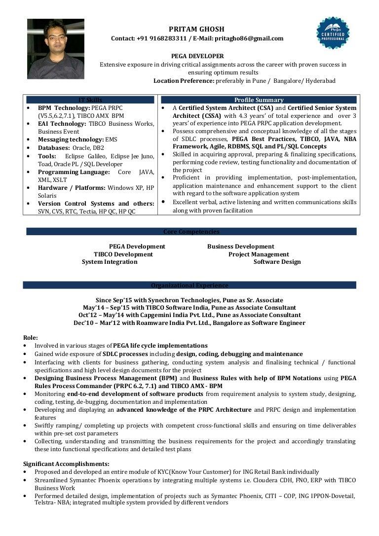 Tibco Sample Resumes | Resume CV Cover Letter