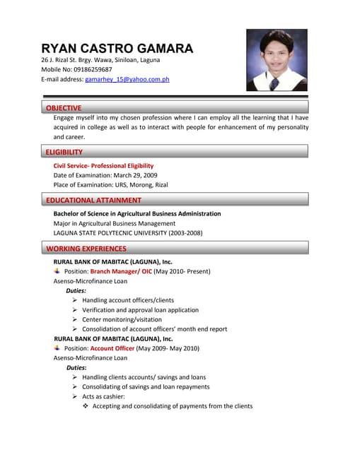 Civil resume service