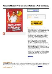 Resume maker professional deluxe 17...