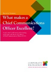 What Makes a Chief Communications Officer Excellent?