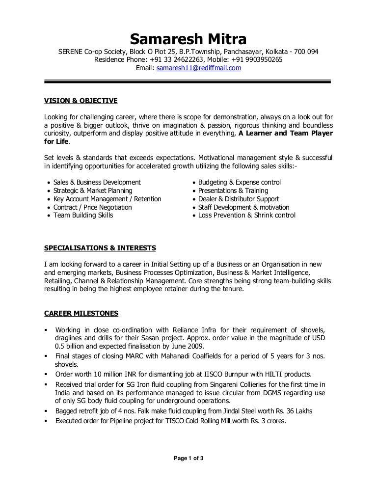 resume sales skills