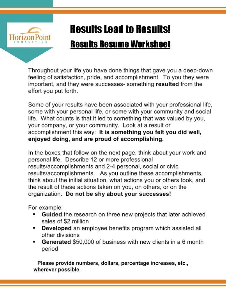 resume results ~ Imeth.co