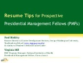 Resume Tips for Prospective Preside...