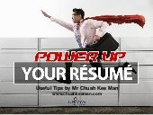 Power Up Your Resume: Useful Tips