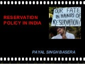 Resvation policy of india