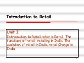 Retail management-1(by Pranit humane)