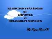 Retension strategies of employee