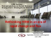 Rethinking HRM in an era of rapid c...