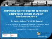 Rethinking water storage for agricu...