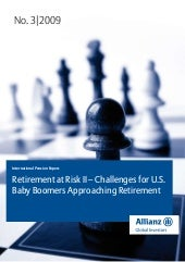 Retirement At Risk II - Challlenges...