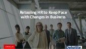 Retooling HR To Keep Up With The Pace Of Change In Business