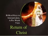 Return of christ, a pre wrath primer