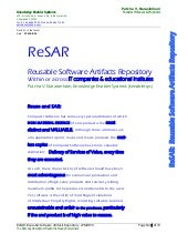 ReSAR:  Reusable Software Artifacts...