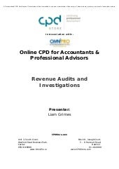 Revenue Audits & Investigations