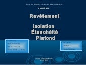 Revetements etancheité isolation pl...