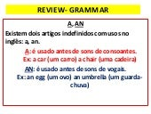 Review  grammar 6º ano