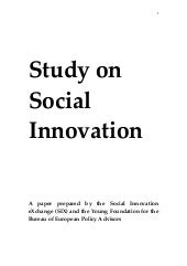 Study on Social Innovation