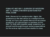 Review for final exam winter 2011