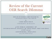 Review of the current oer search di...