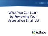 What You Can Learn by Reviewing Your Association Mailing List