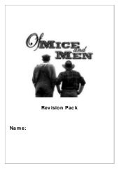 Revision guide - Of Mice and Men