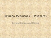 Revision techniques – flash cards