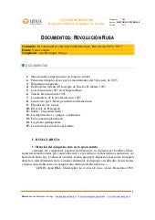 Revolución rusa documentos