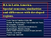 Rheumatoid arthritis in the latin a...