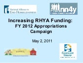 Increasing RHYA Funding: FY 2012 Ap...